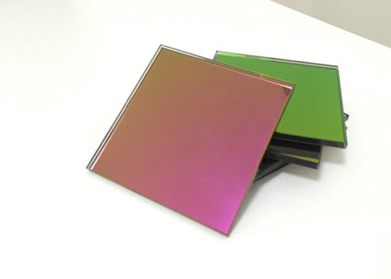 Fashion Red Tinted Mirror Glass 6mm Thickness Flat Shape Sample Accepted